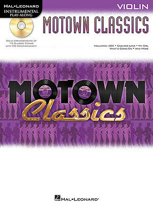 Motown Classics Violin Solo Sheet Music 15 Pop R&B Songs Play-Along Book CD NEW