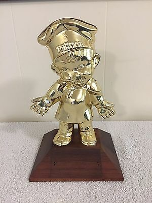 "Tappan Appliance Ohio ""Tappy"" Chef Statue Sales Trophy"