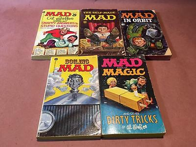 MAD MAGAZINE Vintage Book Collection, Lot Of 5 MAD MAGIC, BOILING, ORBIT