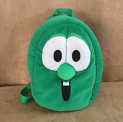 "Larry the Cucumber Veggie Tales 12"" plush Backpack satchel child Big Ideas bag"