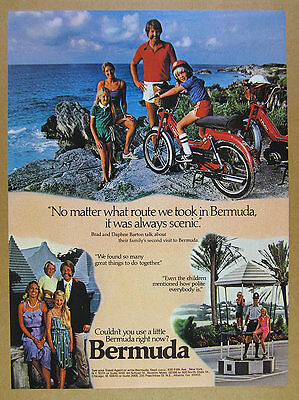1982 Puch Maxi moped photo Bermuda Tourism vintage print Ad