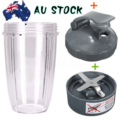 AU Extractor Blade + 24oz Mixing Cup + Flip Top Lid For NutriBullet  600W 900W