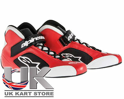 Alpinestars Tech 1-K Bottes De Course Carbone noir ou rouge UK KART STORE