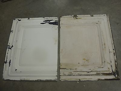 Old Antique ( Metal )  Tin ceiling tile  ( 2 ) 24x18 -  frame ?