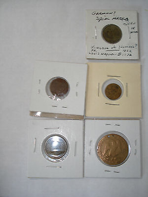 SPIEL MARKE Counter 6 TOKENS COINS  George Washington Nuremberg GERMANY Napoleon
