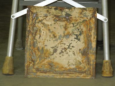 Old Antique ( Metal )  tin ceiling tile  tiles 12X12 old leaf pattern