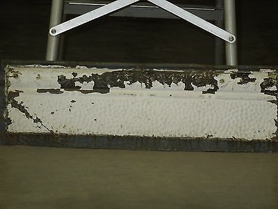 "Old Antique ( Metal )  tin ceiling tile tiles 24""x 7"" filler, backsplash?"