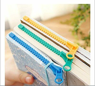 3pcs Novelty Zipper Bookmark Page Marker for Book