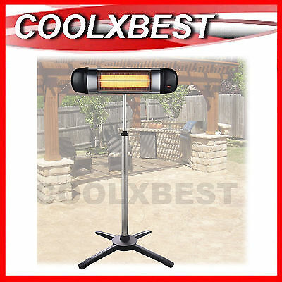 NEW OUTDOOR PATIO HEATER ELECTRIC 2000W INFRARED RADIANT w ADJUSTABLE STAND