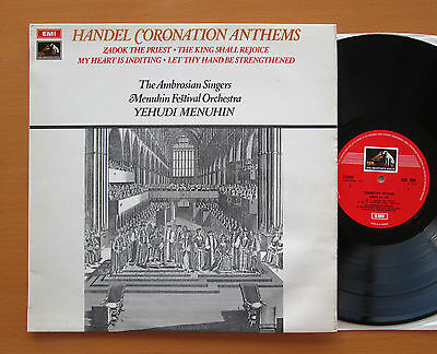 ASD 2584 Handel Coronation Anthems Yehudi Menuhin 1970 ED1 Colour Stamp NM/EX