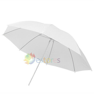 "40"" 102cm Photograph Video Studio Lighting Flash Umbrella Translucent White Soft"