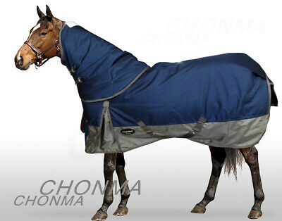 CHONMA   1680D 250G Fill Winter Waterproof BreathableTurnout Horse Rug Combo-A36