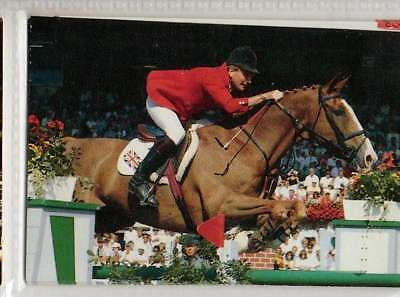 #76 Malcolm Pyrah GBR Jumping equestrian collector card