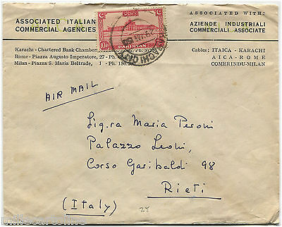 PAKISTAN, AIR MAIL FROM KARACHI CITY, MAR 1950, STAMP 10 AS            m