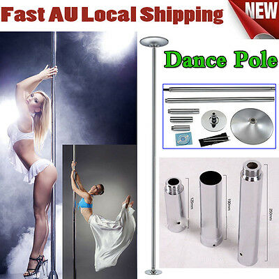 Chic Pole Portable Exercise Spinning Home Gym Dancing Fitness + 2Pcs Extensions