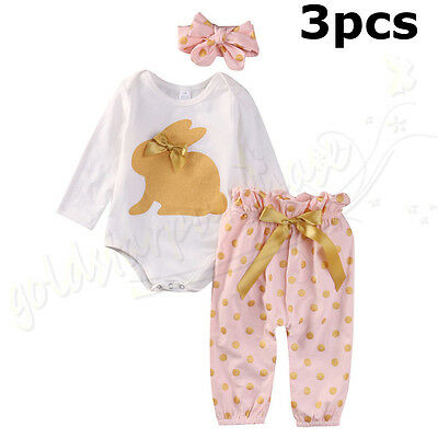 0-18M Newborn Baby Kids Girls Clothes Floral Romper Tops+Long Pants Outfits Set