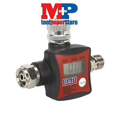 SEALEY ARD01 On-Gun Paint Spray Air Pressure Regulator/Gauge Digital