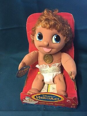 Baby Hercules Disney Light Up Medallion Baby Glow Still In Box  Soft Toy