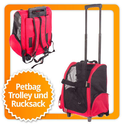 Hundetrolley Transport Tasche Box für Hunde Trolley & Rucksack Transportbox