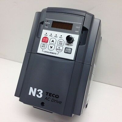 7.5 Hp 460V 3Ph In 460 3Ph Out Variable Frequency Drive Vfd Teco N3-407-C New