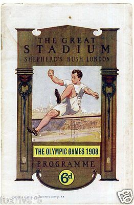 OLYMPICS London 1908 Programme Cover Summer Olympic Games - reprint