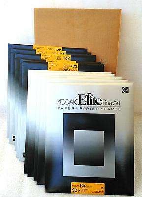 100)11x14 KODAK ELITE Fine-Art, Black & White Photo Printing Paper SEALED S2P #5