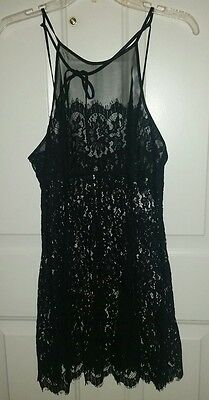 Victoria's Secret nightie NWT size medium sheer lace black