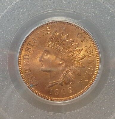 1909 Indian Cent Pcgs Ms 64 Rb