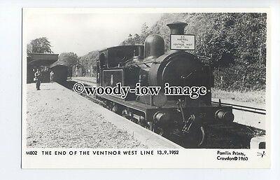 pp2009 - End of the Ventnor West Line,13.09.52,  I.O.W.Railway - Pamlin postcard