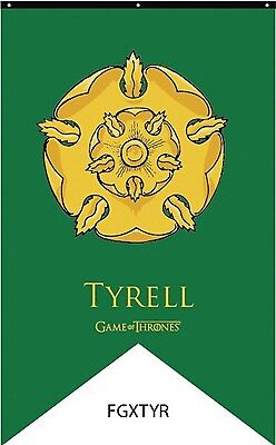 """GAME OF THRONES HOUSE TYRELL BANNER LICENSED FLAG 30"""" x 50"""" #smar17-115"""