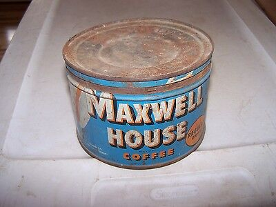 Vintage MAXWELL HOUSE Coffee Can Tin with Lid