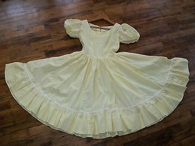 Dress Vintage Western Pinup Swing Prairie Rockabilly Square Dance Country Yellow