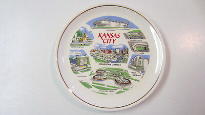 Vintage Kansas City State Souvenir / Collector Plate, 7 1/4 in.