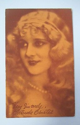 Vintage GERTRUDE OLMSTED Exhibit Supply Co. Postcard, Silent Film Actress