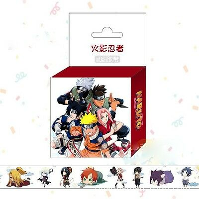 Anime Naruto Shippuden Cartoon DIY Paper Maksing Washi Tape Scrapbook Stickers