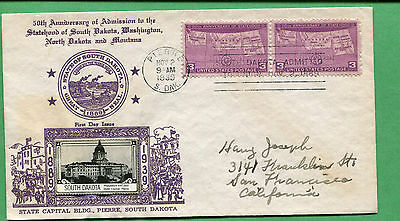First Day Cover 1945 Sc#932 - Franklin D. Roosevelt Crosby Cachet CC032