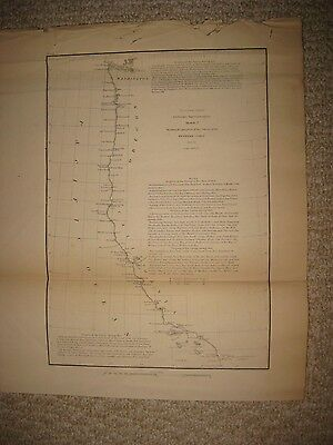 Early Antique 1855 California Washington Oregon Territory Map San Francisco Fine