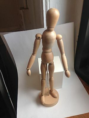 """New Wooden Artists Mannequin 12"""" On Stand 13"""""""