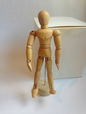 """New Artists Wooden Mannequin 4 1/2"""" On Stand 5 1/4"""""""