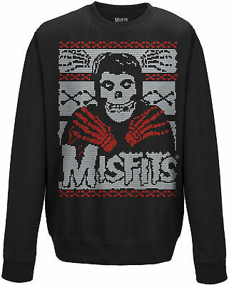 MISFITS Skeleton CREW NECK SWEATER JUMPER PULLOVER OFFICIAL MERCHANDISE