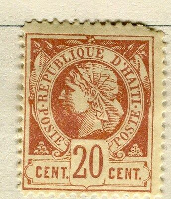 HAITI;  1882 early classic Liberty issue perf  used 2c. value