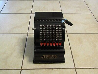 Vintage Mechanical American Adding Machine Model 5 Can Company