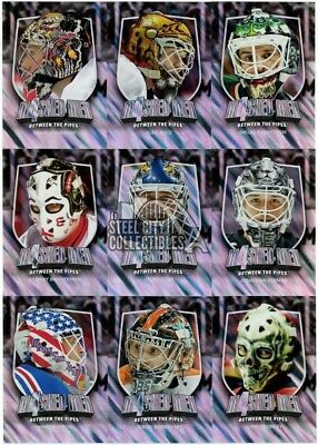 2011-12 In The Game Between The Pipes Masked Men 4 Silver 50-Card Insert Set