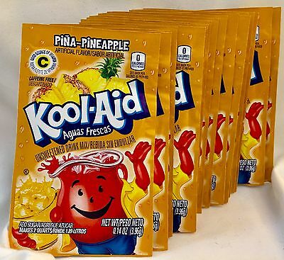 24 Pina-Pineapple Kool-Aid Drink Mix Gluten Free Unsweetened Exp 2018