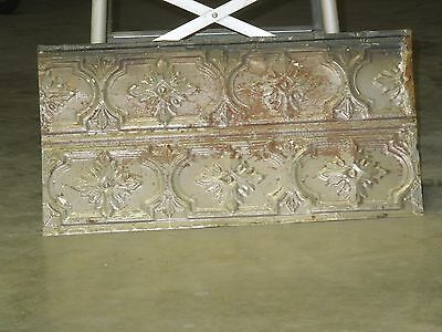 Old Antique ( Metal ) Tin ceiling tile /  24X12 1880  back splash  Prison tin