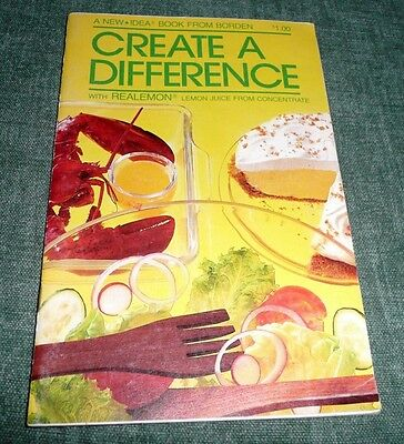 CREATE A DIFFERENCE REALEMON REAL LEMON Vintage recipe booklet 1983
