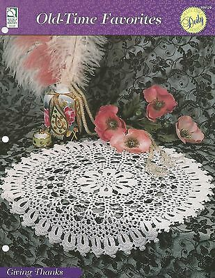Giving Thanks Doily Old Time Favorites Crochet Pattern 399