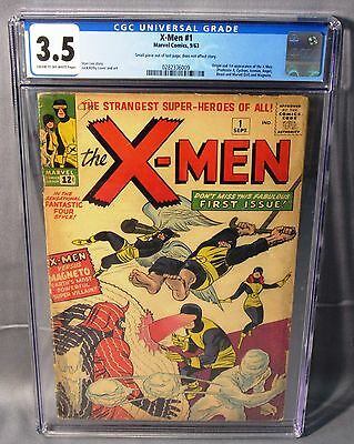 THE X-MEN #1 (First appearance & Origin) CGC 3.5 VG- Marvel Comics 1963 Uncanny