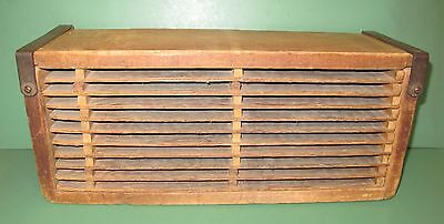 Vintage Rustic Wooden I Don't Know What It Is Drying Rack Box Removable Shelves