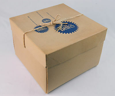 Vintage Square Belk's Cardboard hat box with drawstrings Bow